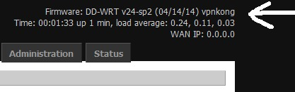 recent Kong VPN version of dd-wrt