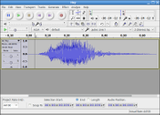 Editing an audio file with Audacity