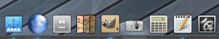 Plank dock, running on a Linux Mint Cinnamon desktop