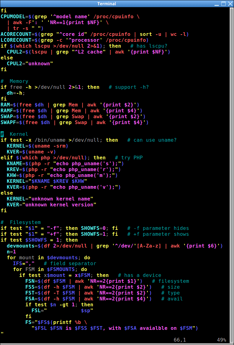 System Information Script